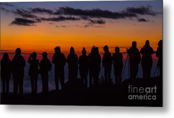 Cadillac Mountain Sunset.  Metal Print
