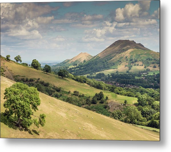 Caer Caradoc And The Lawley Metal Print by Richard Greswell