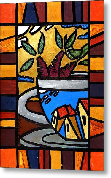 Metal Print featuring the painting Cafe Caribe  by Oscar Ortiz