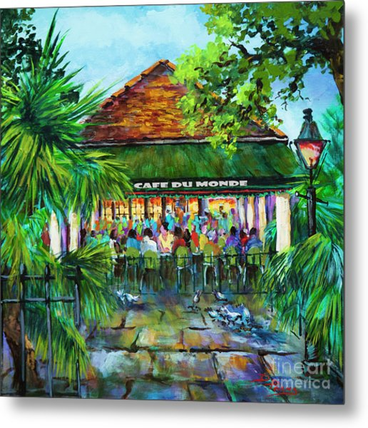 Cafe Du Monde Morning Metal Print