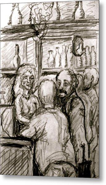 Cafe In Old Nice Metal Print by Dan Earle