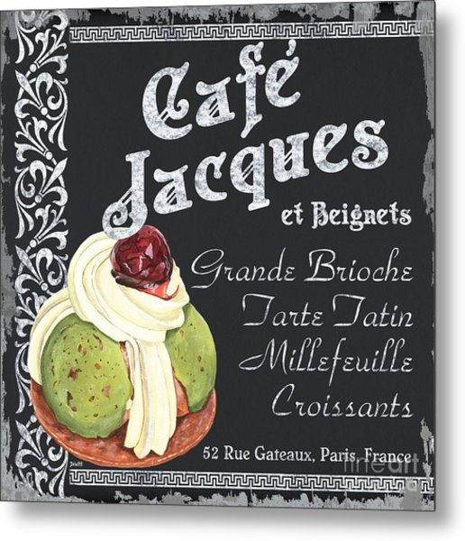Cafe Jacques Metal Print