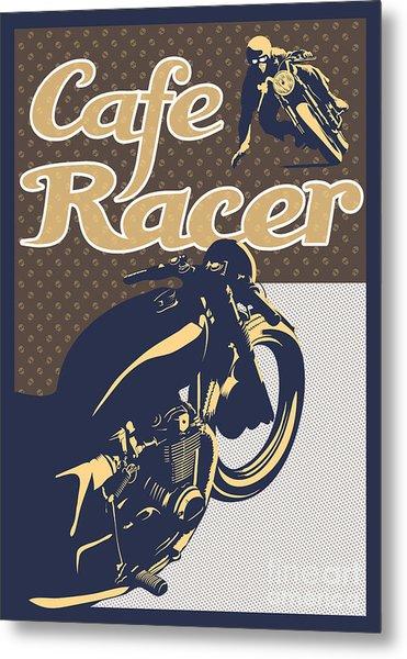 Cafe Racer Metal Print