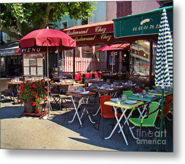 Cafe Scene In France Metal Print