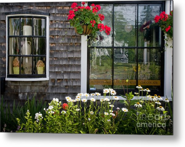 Cafe Windows Metal Print