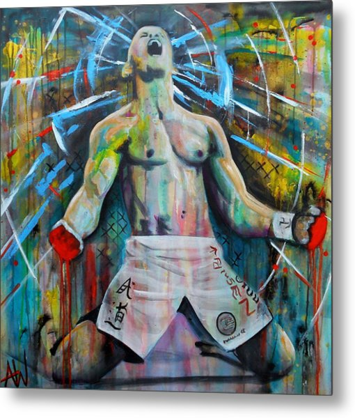 Cage Fighter Metal Print