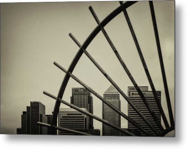 Caged Canary Metal Print