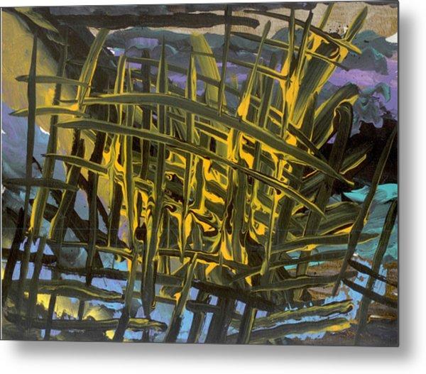 Caged Metal Print by Helene Henderson