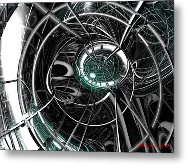 Caged Metal Print by Michael Burleigh