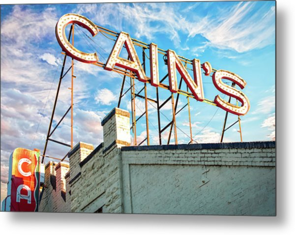 Metal Print featuring the photograph Cains Ballroom Music Hall - Downtown Tulsa Cityscape by Gregory Ballos