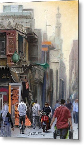 Cairo Street Market Metal Print
