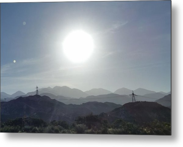 Cajon Pass Sunset Metal Print