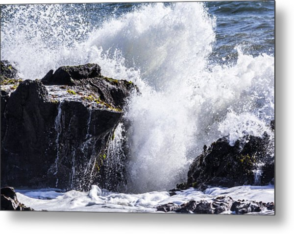 California Coast Wave Crash 6 Metal Print
