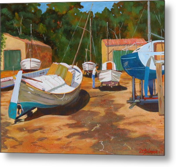 Cala Figuera Boatyard - I Metal Print