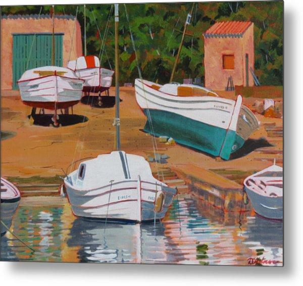 Cala Figuera Boatyard - II Metal Print