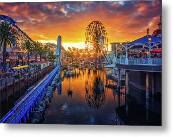Calfornia Sunset Metal Print