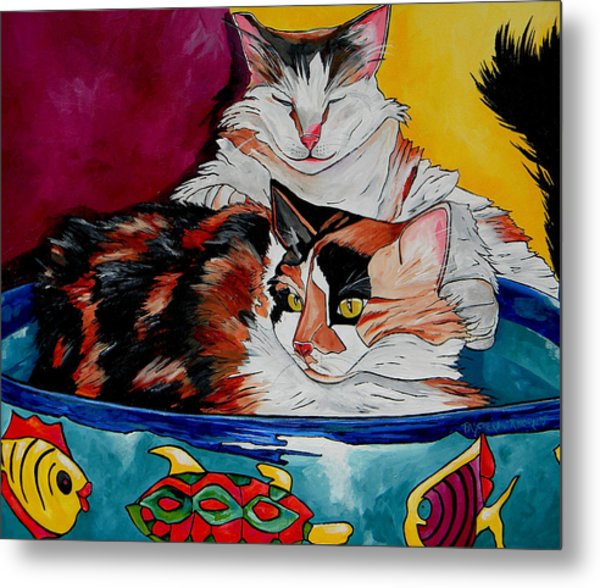 Calico And Et Metal Print