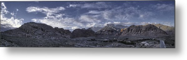 Calico Basin Panorama Metal Print