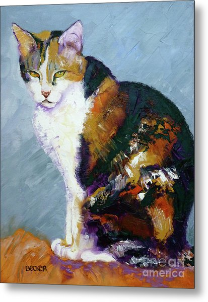 Calico Buddy Metal Print