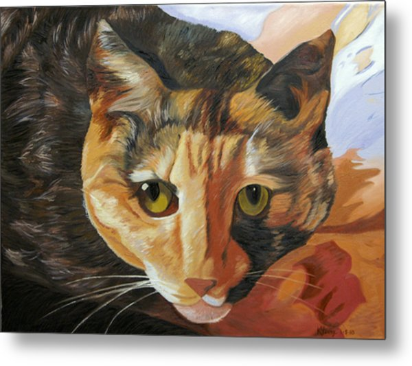 Calico Metal Print by Kenneth Young