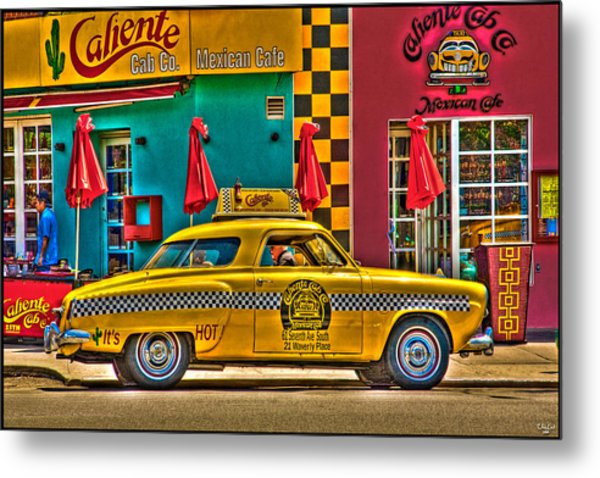 Caliente Cab Co Metal Print
