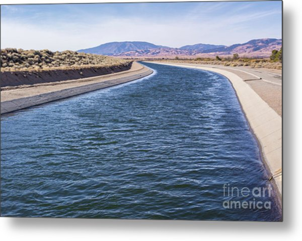 California Aqueduct S Curves Metal Print