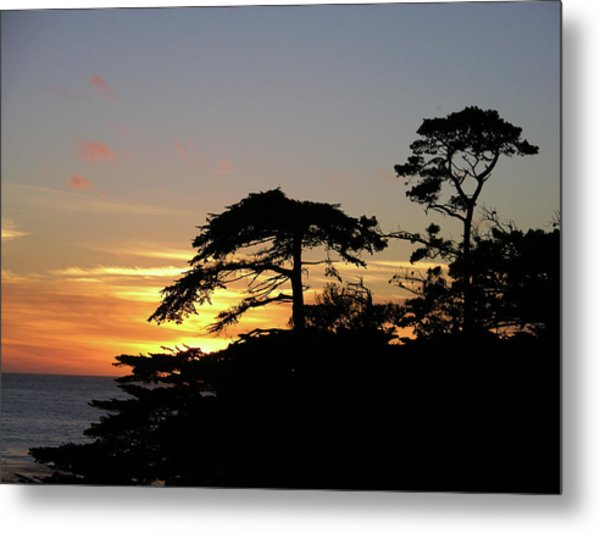 California Coastal Sunset Metal Print