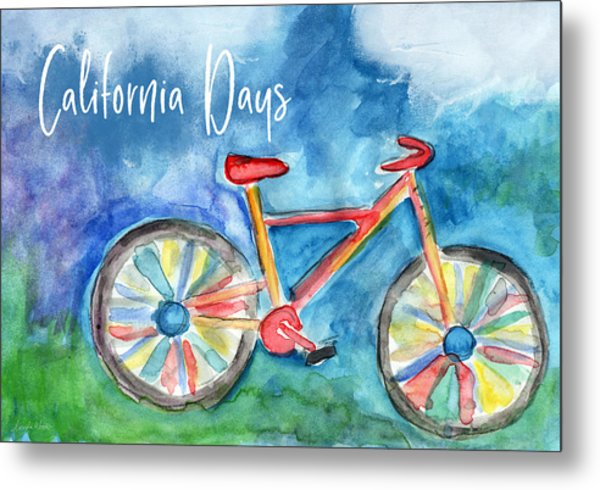 California Days - Art By Linda Woods Metal Print
