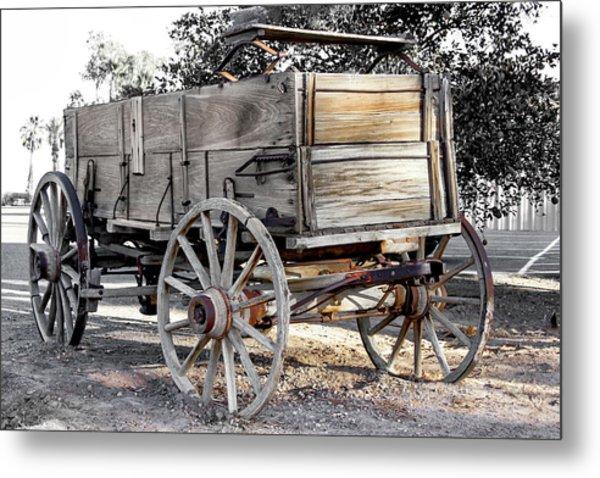 California Farm Wagon Metal Print