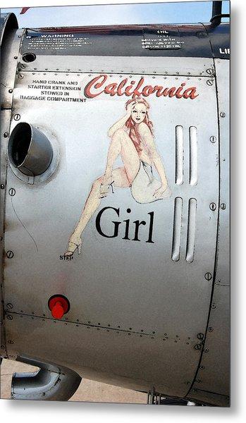 California Girl Metal Print