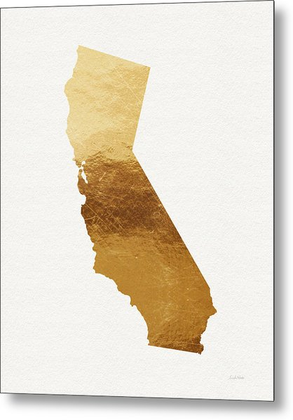 California Gold- Art By Linda Woods Metal Print