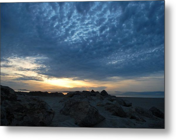 California Rocky Beach Sunset  Metal Print