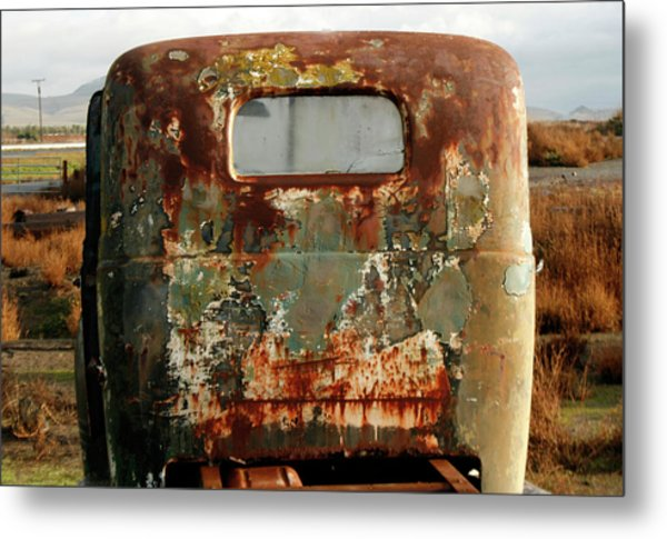 California Rusted Truck Metal Print