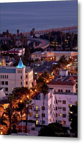 California Street At Ventura California Metal Print