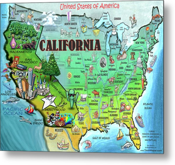 California Usa Metal Print