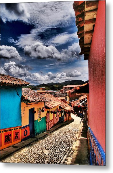 Metal Print featuring the photograph Calle De Colores by Skip Hunt