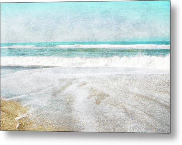 Calm Coast- Art By Linda Woods Metal Print