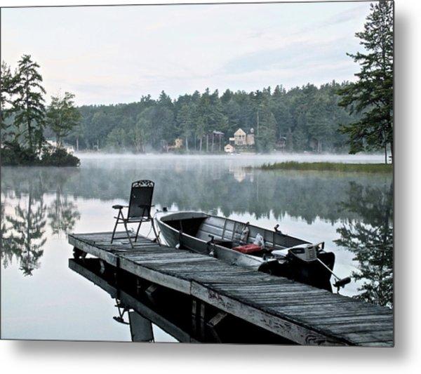 Calm Morning On Little Sebago Lake Metal Print