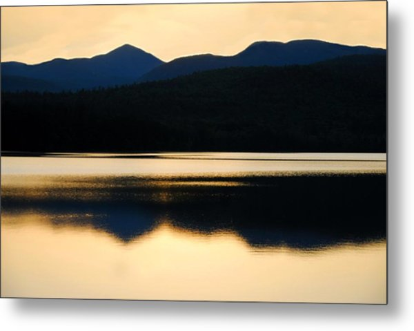 Calm Over Blue Lake Metal Print