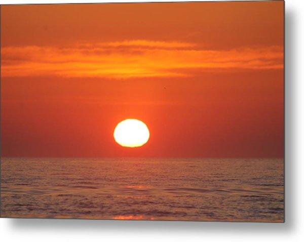 Calm Seas Sunrise Metal Print