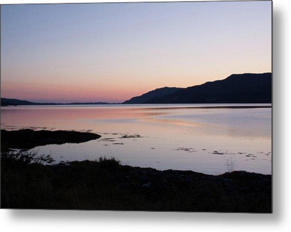 Calm Sunset Loch Scridain Metal Print