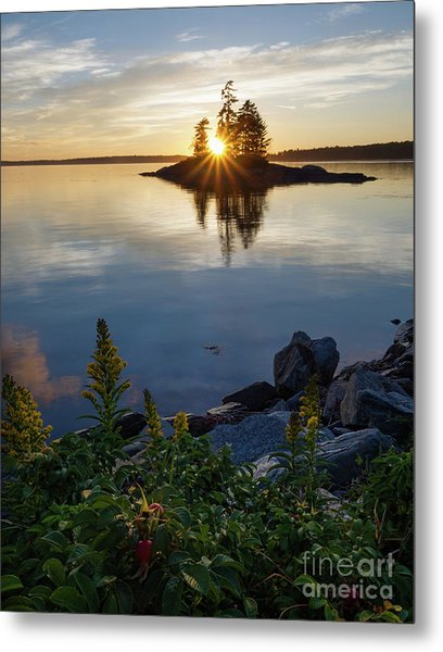 Calm Water At Sunset, Harpswell, Maine -99056-99058 Metal Print