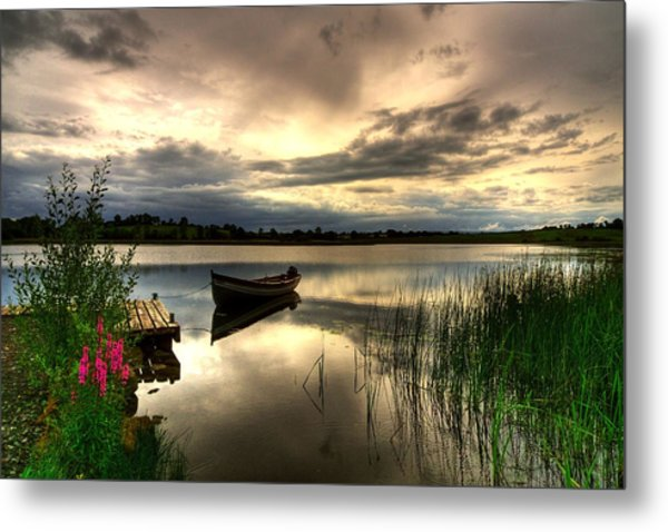 Calm Waters On Lough Erne Metal Print by Kim Shatwell-Irishphotographer