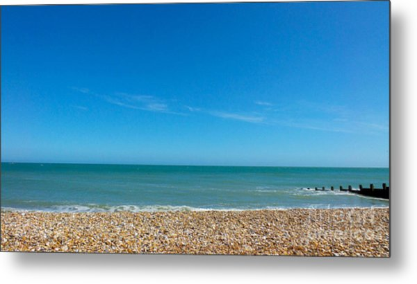 Calming Seaside View Metal Print