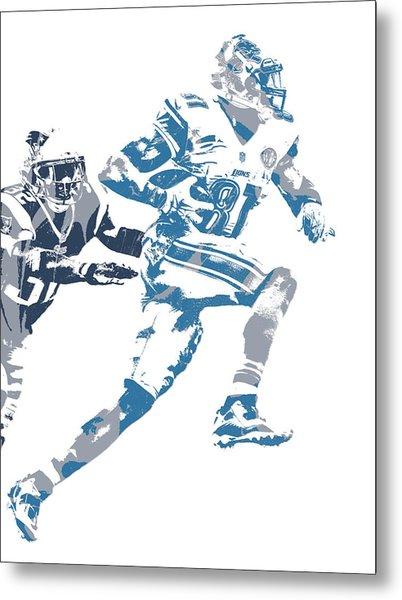 Calvin Johnson Detroit Lions Pixel Art 20 Metal Print
