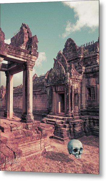 Cambodian Blue Metal Print