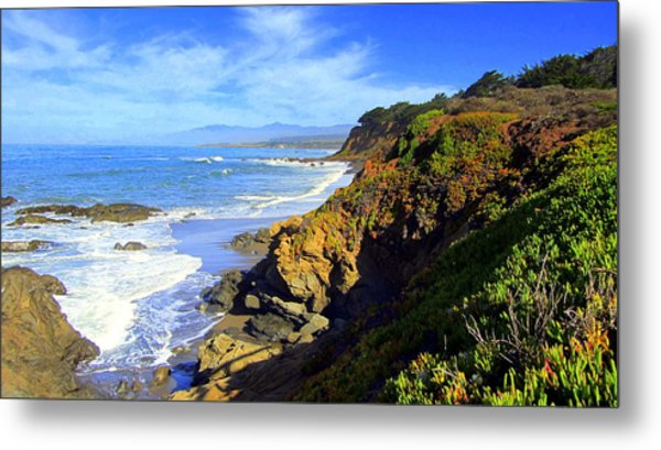 Cambria By The Sea Metal Print