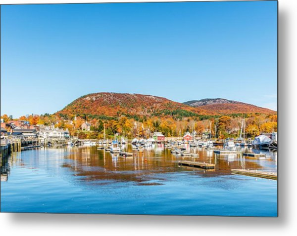 Camden Harbor Autumn Metal Print