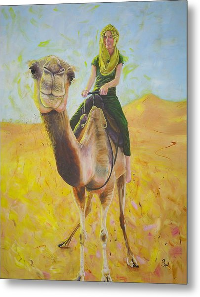 Camel At Work Metal Print