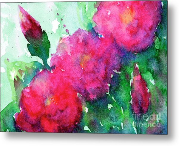 Camellia Abstract Metal Print